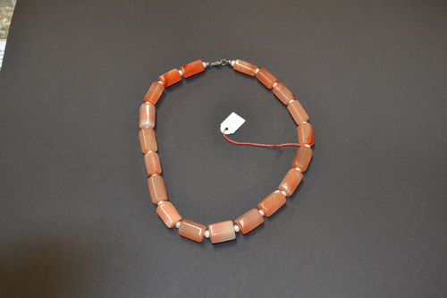 noble stone necklace carnelian apricot agate SWP