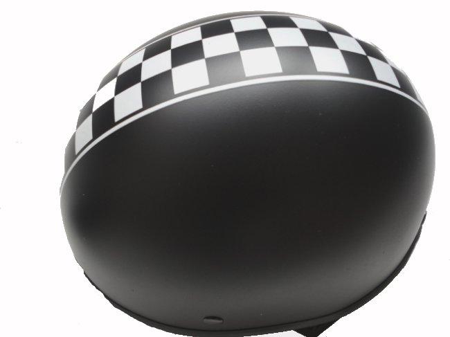custom helm schwarz matt karo braincap braincover. Black Bedroom Furniture Sets. Home Design Ideas