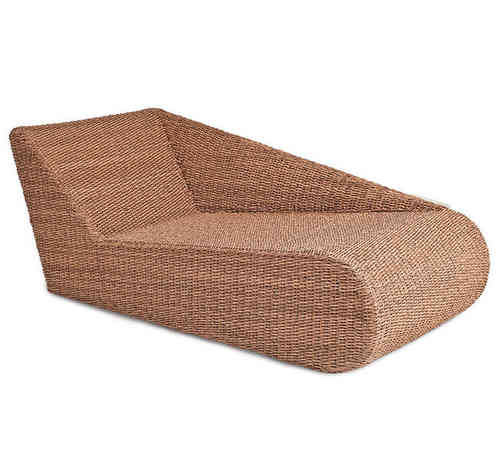 MBM Liege Relax Lounge Madrigal links 168.851 Polyrattan Twist natural Sonnenliege