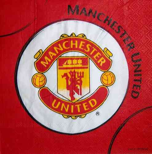 8638 Manchester United Fußballverein Serviette