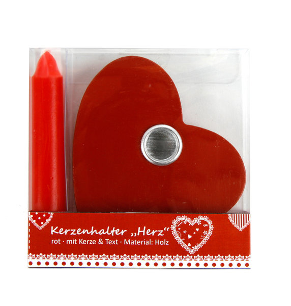 kerze in holzherz rot kerzen herz liebe hochzeit valentinstag verlobung kaufen bei. Black Bedroom Furniture Sets. Home Design Ideas