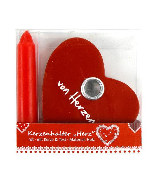 kerze in holzherz rot kerzen herz liebe hochzeit valentinstag verlobung ebay. Black Bedroom Furniture Sets. Home Design Ideas