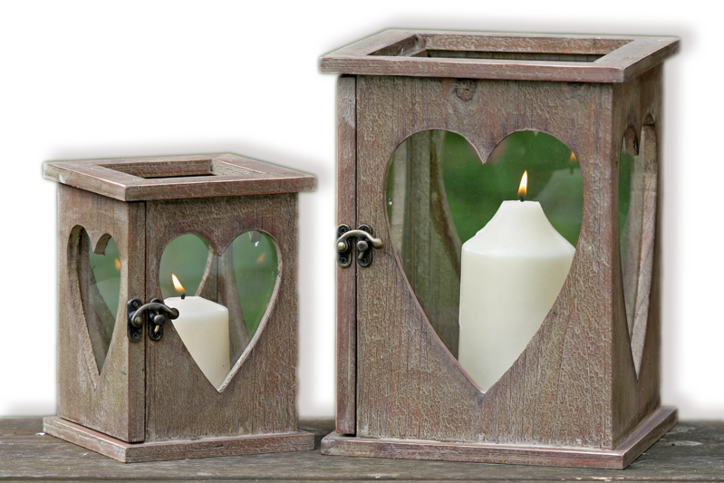 windlicht laterne herz holz mit glas herzlaterne f r kerze f r haus und garten ebay. Black Bedroom Furniture Sets. Home Design Ideas