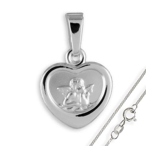 Anhänger-Schutzengel Herz925 Silber