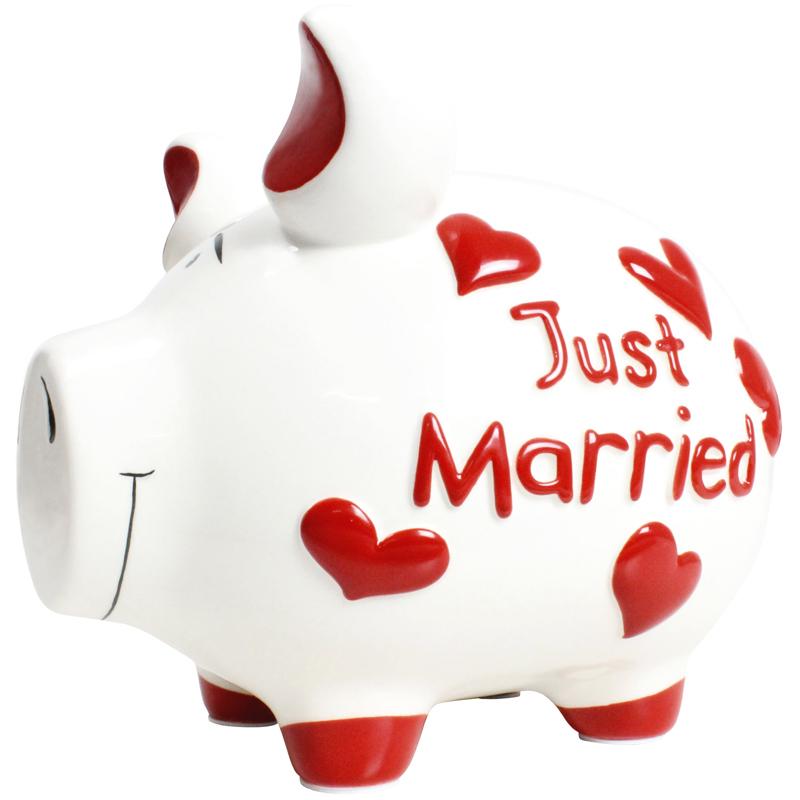Sparschwein mit Herz Spardose Sparbüchsen Hochzeit Hochzeitskasse