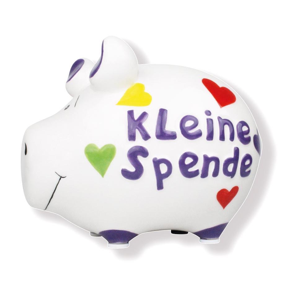 Sparschwein kleine Spende mit Herz Spardose Sparbüchse Keramik Kasse Geldgeschenk