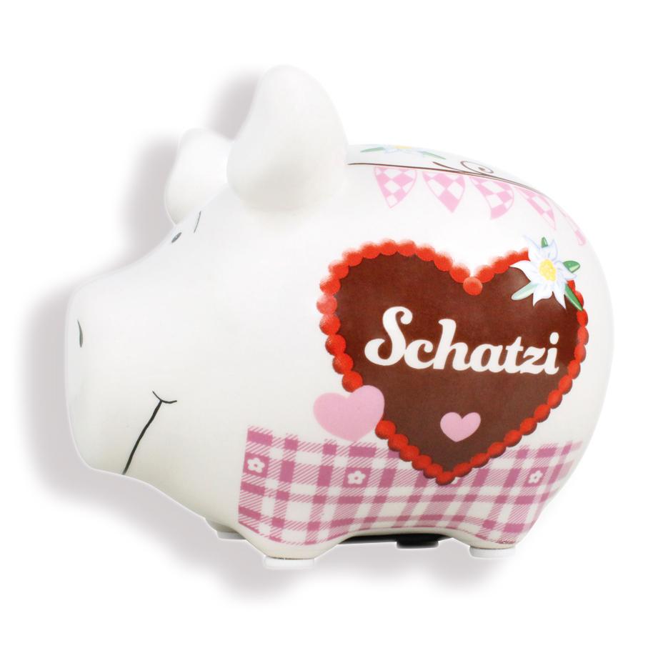 Sparschwein mit Herz Spardosen Sparbüchse aus Keramik Kasse Geldgeschenk
