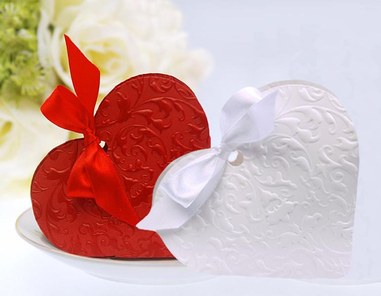 Geschenkbox Gastgeschenk Hochzeit Taufe Herz Herzform 10 Stück