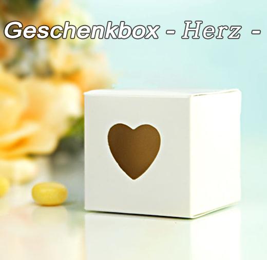 Geschenkbox Gastgeschenk Hochzeit  Taufe Herz 10 Stück