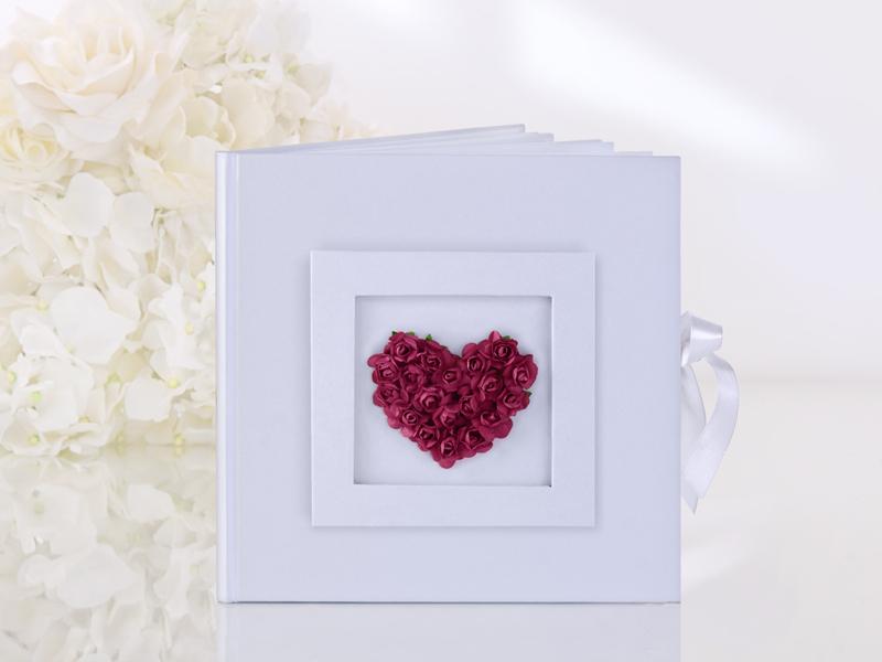 Gästebuch Hochzeit Hochzeitsgästebuch mit Rosenherz