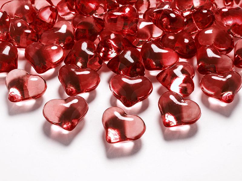 Streudeko Tischdeko Herz Herzen Valentinstag Hochzeit - rot