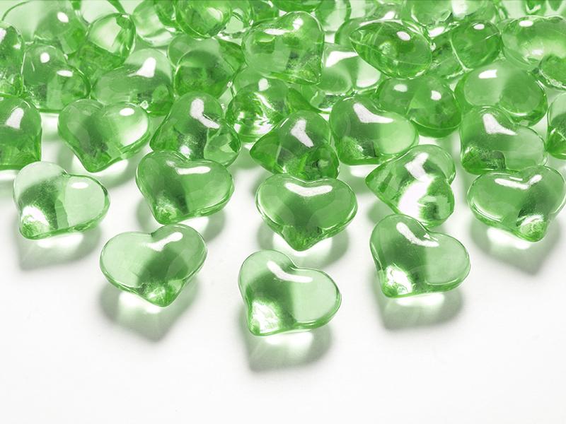 Streudeko Tischdeko Herz Herzen Valentinstag Hochzeit - grün