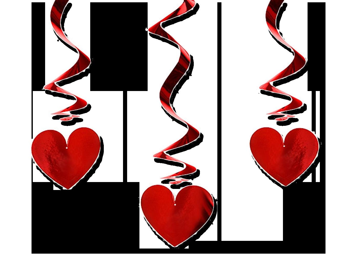 Girlanden Spiralen Mit Herzen Girlande Herzgirlande