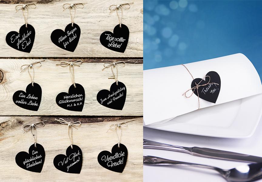Tischdeko Herz Papiererzen Valentinstag Hochzeit