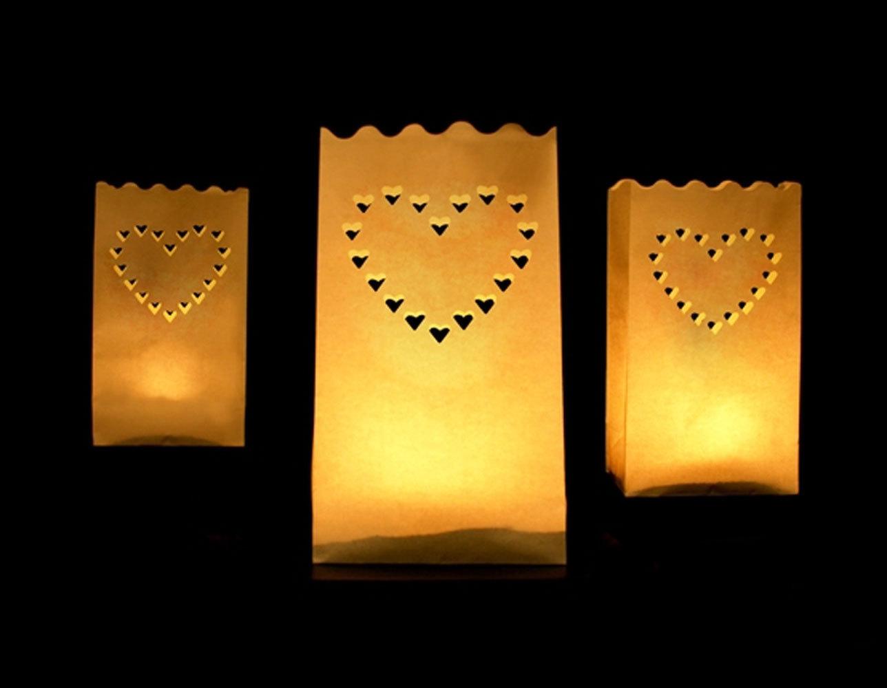 Lichtertüten mit Herz