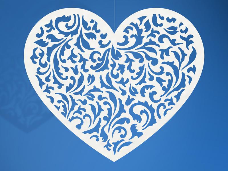 Tischdeko Herz Herzen Valentinstag Hochzeit