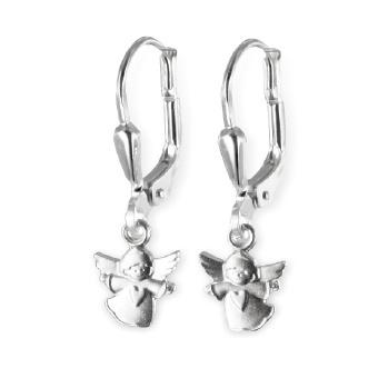 Ohrhänger Engel mit Herz Ohrstecker Herzen925 Silber