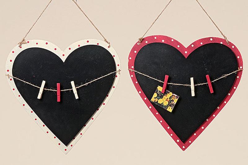 Memotafel Küchentafel Wandtafel Herzform Herz Kreidetafel