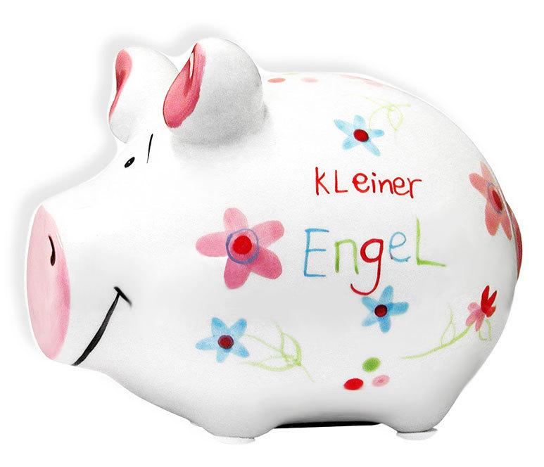 Sparschwein Spardose Sparbüchse Keramik Hochzeit Geldgeschenk - Kleiner Engel