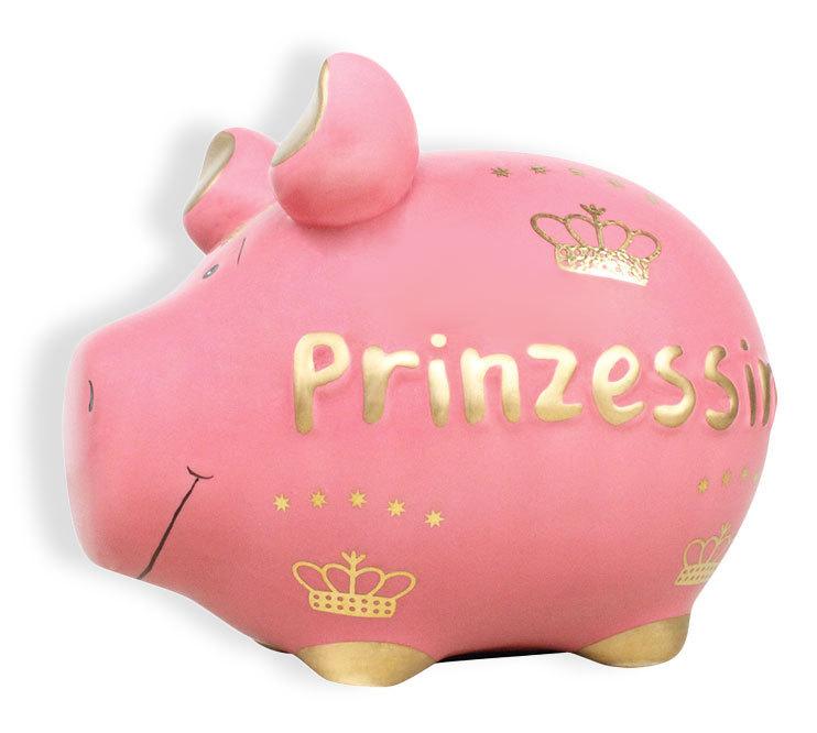 Sparschwein Spardose Sparbüchse Keramik Hochzeit Geldgeschenk -Prinzessin