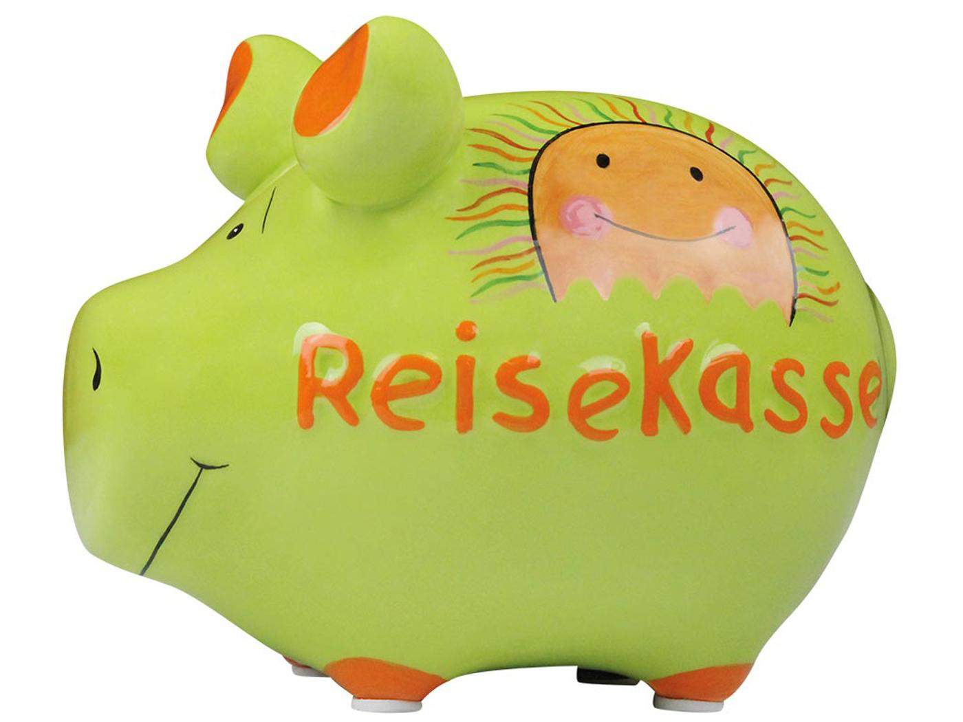 Sparschwein Spardose Sparbüchse Reisekasse Keramik Hochzeit Geldgeschenk
