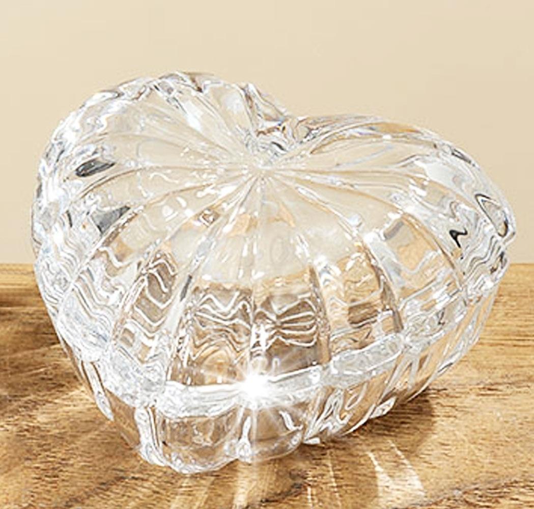 glasschale herz glasdose in herzform mit deckel glasbeh lter. Black Bedroom Furniture Sets. Home Design Ideas