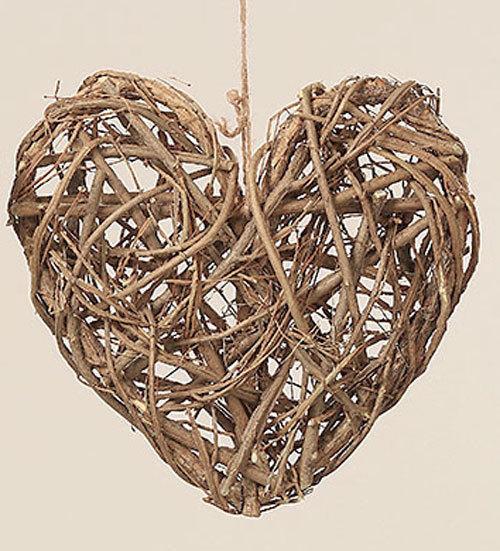 Heart ornaments decorative hanger wooden woven