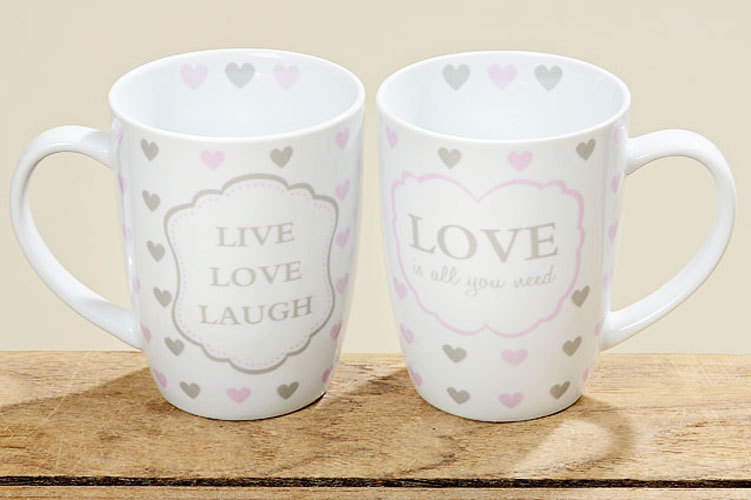 Tassen Design tassen 2er set kaffeebecher kaffeetasse becher teetasse mit herz