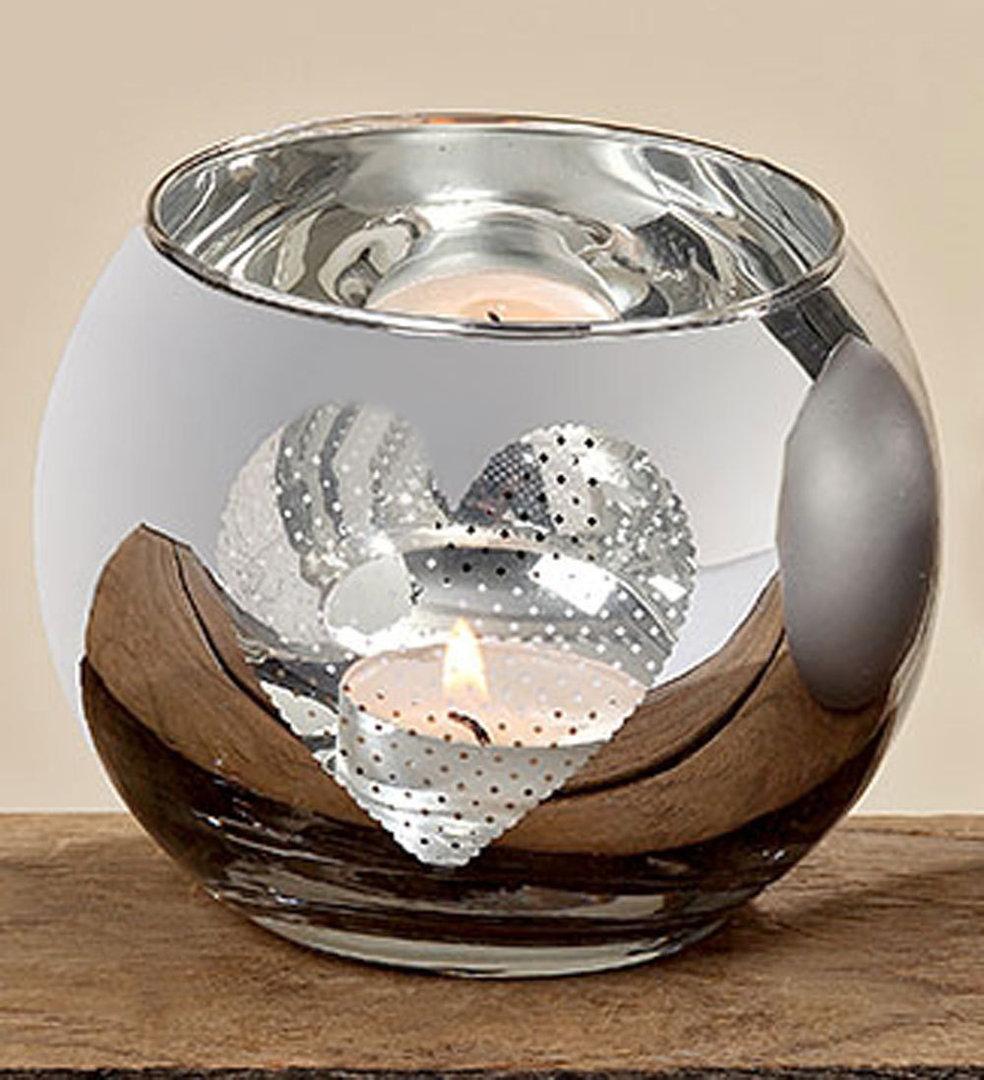 Windlichtglas Teelichthalter Windlicht Tischdeko Herz
