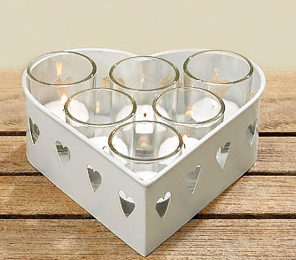 Windlicht Gläser Set 13 - teilig mit Tablett Windlichtglas Teelicht
