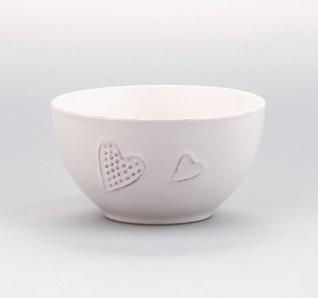 Müslischale Suppenschale Müslischüssel Desertschale mit Herz Shabby