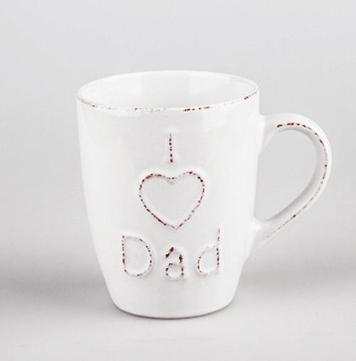Tasse Kaffeebecher Kaffeetasse Becher Teetasse - mit I love Dad - Shabby