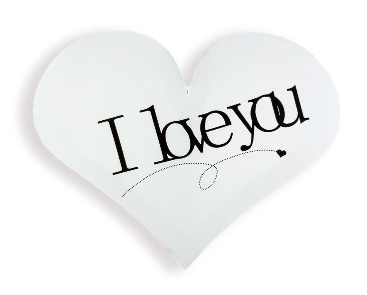 wandbild auf leinwand in herzform wei i love you ebay. Black Bedroom Furniture Sets. Home Design Ideas