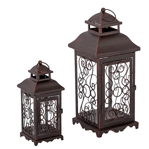 Laterne 2er Set Windlicht Gartendeko Kerze Teelicht Teelichthalter