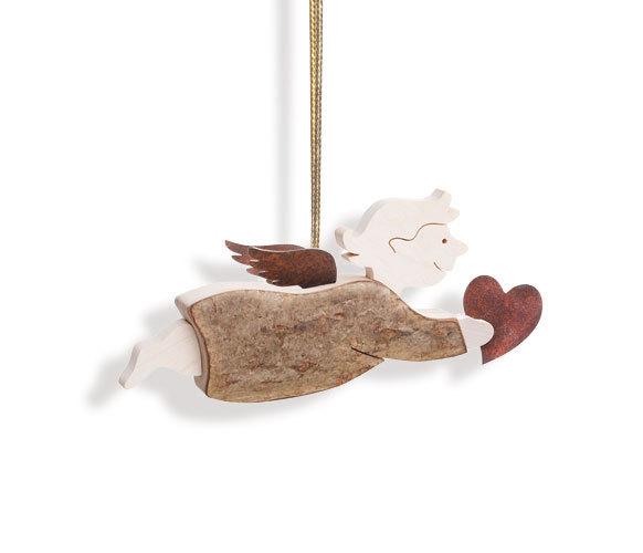 Kleiner Engel H Nger Mit Herz Schutzengel Dekoration Holz