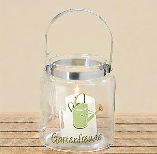 Windlichtglas Teelichthalter Windlicht Tischdeko Gartenfreude
