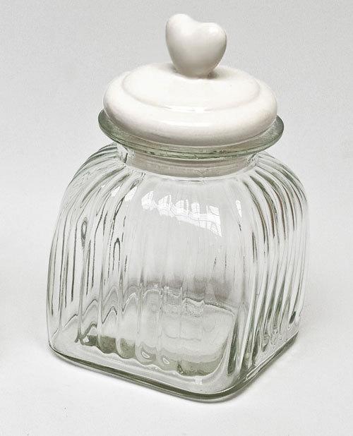 XXL Bonbonglas Dekoglas Vorratsglas mit Herz Keramik Deckel