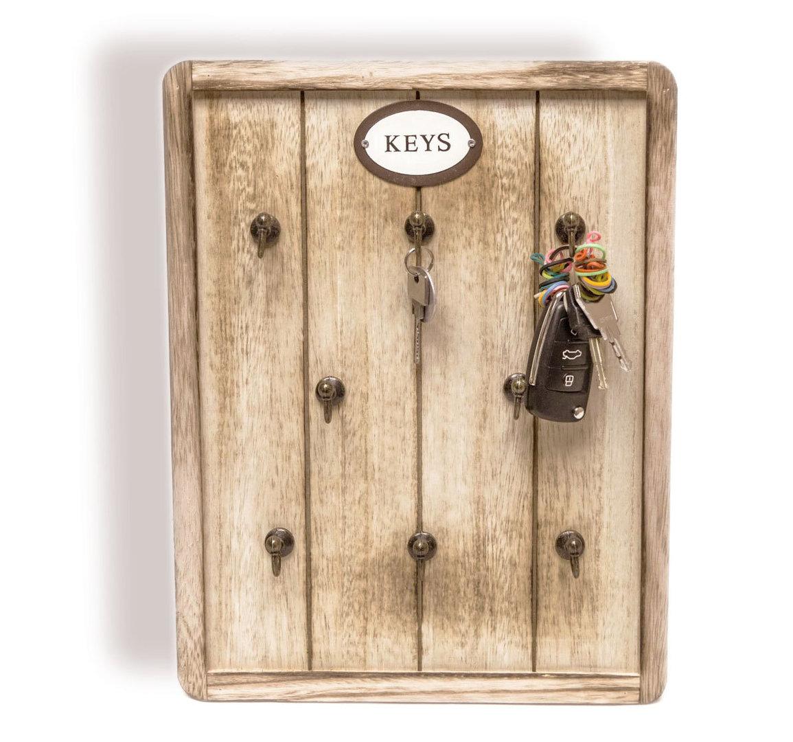 schl sselboard schl sselbrett braun burned wood aus holz. Black Bedroom Furniture Sets. Home Design Ideas