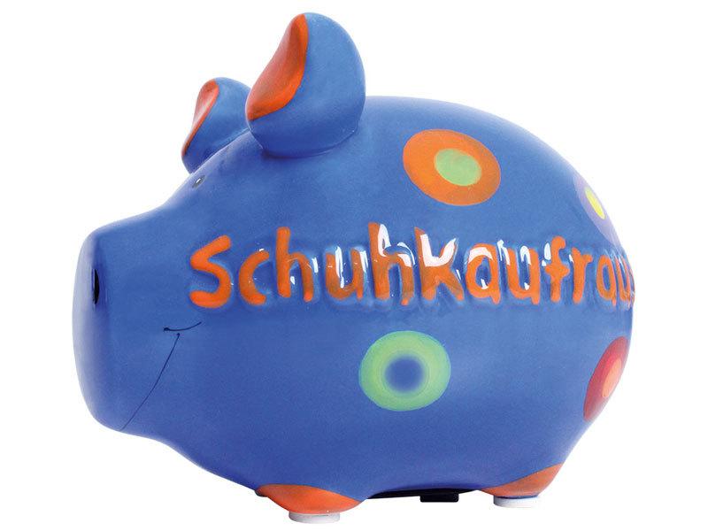 Sparschwein Schuhkaufrausch Spardose Sparbüchse Keramik Geldgeschenk