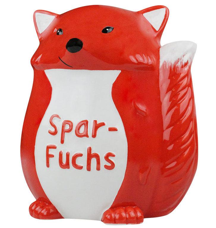 Sparschwein sparfuchs spardose sparb chse keramik for Fenster sparfuchs