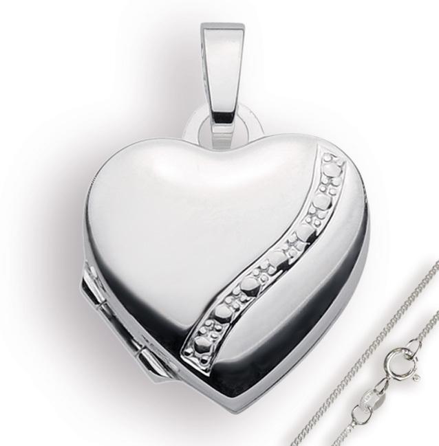 Berühmt Medaillon 925 Silber Herz zum öffnen für Bildereinlage/ 2 Fotos &ZC_05