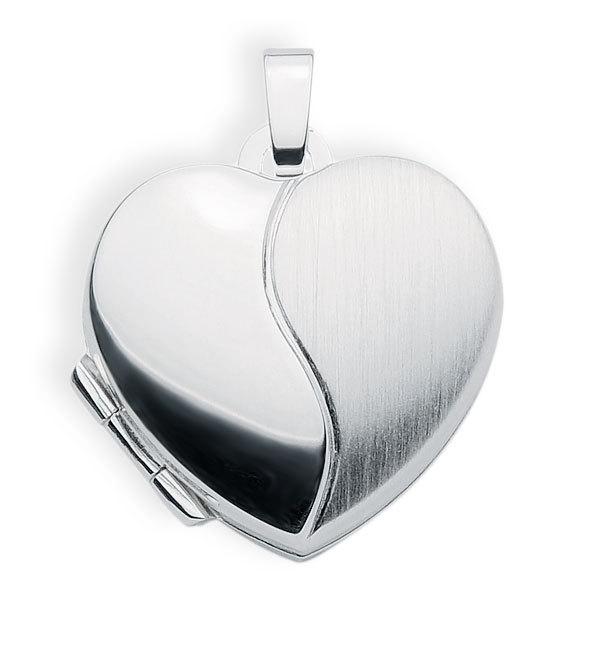 Medaillon 925 Silber Herz zum öffnen für Bildereinlage/ 2 Fotos Amulett