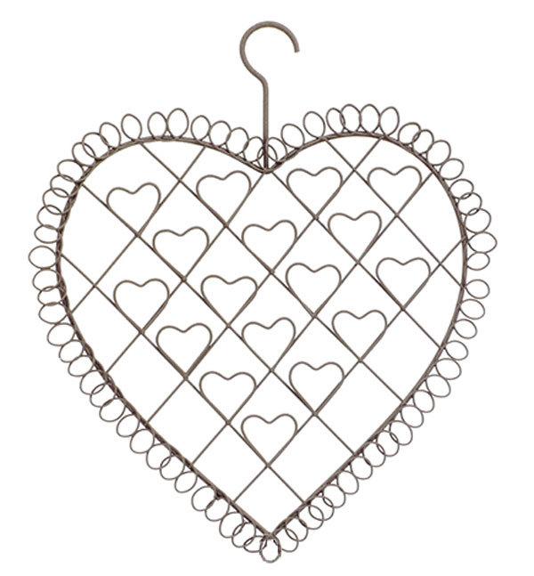 Fotohalter - Kartenhalter Herz aus Metall mit Haken zur Befestigung