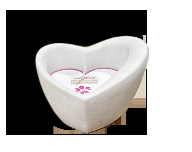 Kerze Kerzentopf Herz - Herzform - Hochzeit Liebe Dekoration Windlicht grau
