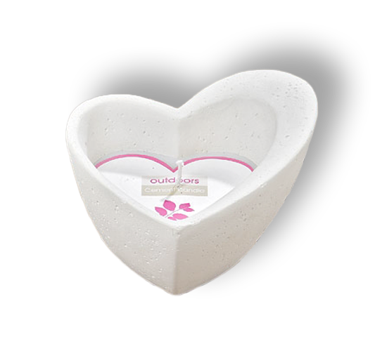 Große Kerze Kerzentopf Herz - Herzform - Hochzeit Liebe Dekoration Windlicht