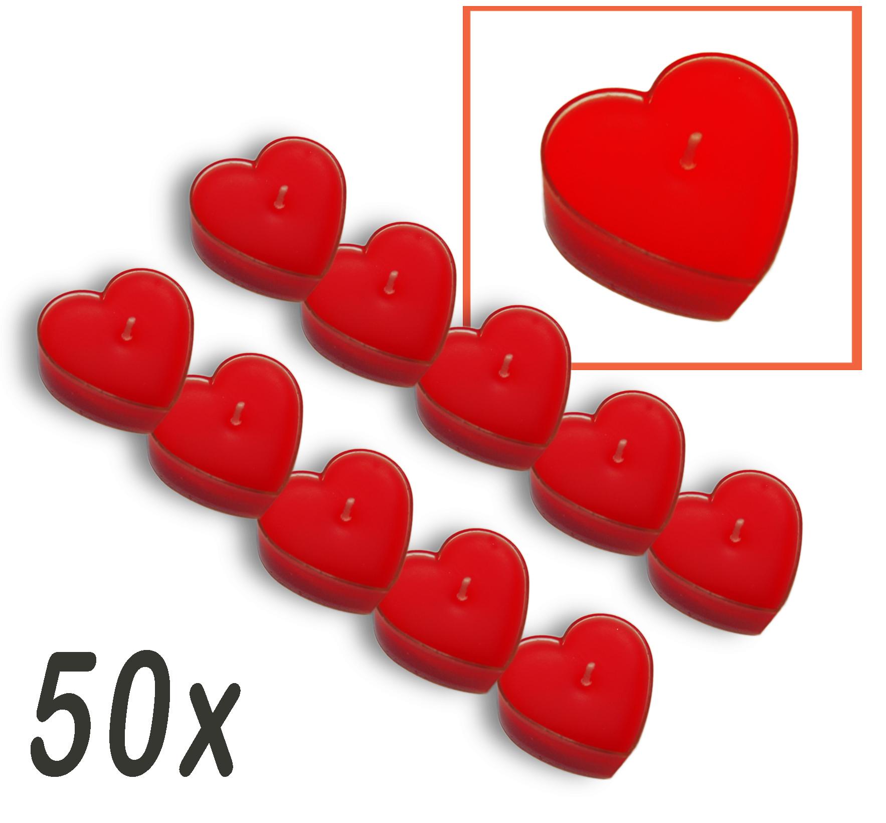 Teelichter Herzform Herzkerze Kerze Hochzeit Liebe Teelicht 50 Stück
