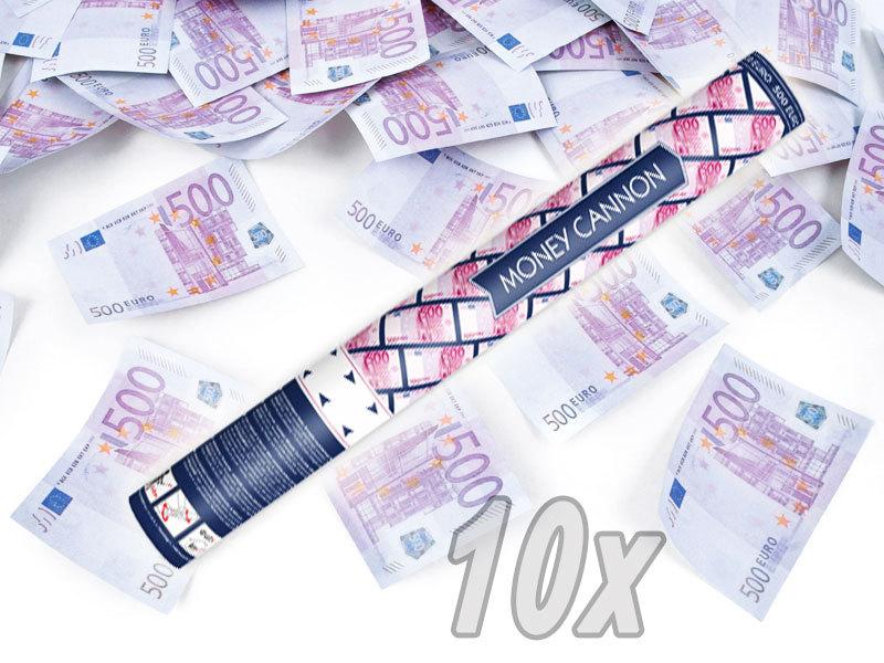 Konfetti Shooter 10 Stück  Party Popper Geldscheine Geldregen Kanone XXL 60 cm !