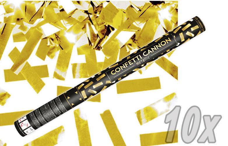 Konfetti Shooter 10 Stück Party Popper gold Folien Konfetti Kanone XXL 60 cm