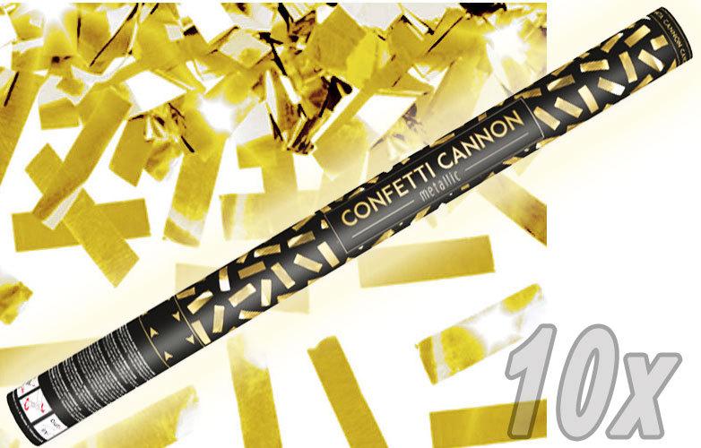 Konfetti Shooter 10 Stück Party Popper gold Folien Konfetti Kanone XXL 80 cm