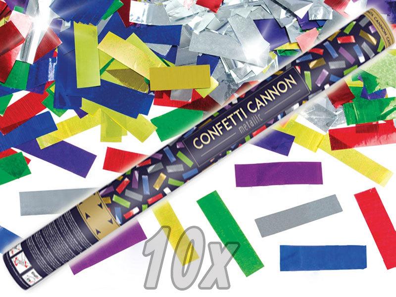 Konfetti Shooter bunte Folien Konfetti 10 Stück Party Popper Kanone XXL 80 cm ! Karneval - Hochzeit